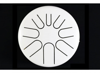white electro acoustic tongue drum